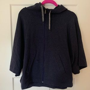 Lucy cape zip up with hoodie